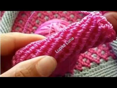 Realiza Asa Redonda o Churro a Crochet Para Tus Bolsos.La Luna Del Crochet