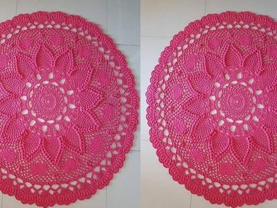 Tapetes Circulares Tejidos a Crochet