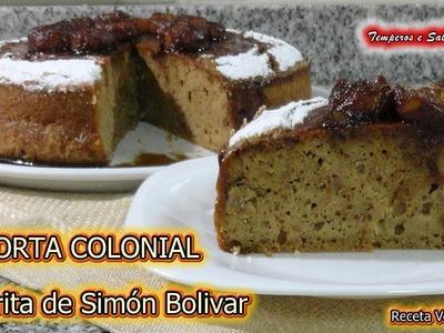 TORTA COLONIAL favorita de Simón Bolivar, Sin Gluten, receta de licuadora fácil
