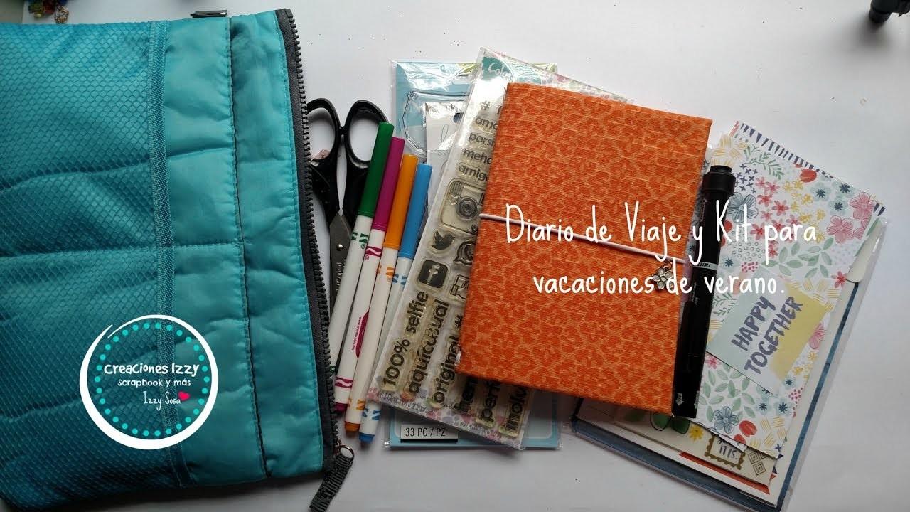 Tutorial Diario de viaje y Kit mini para vacaciones scraperas * Creaciones Izzy