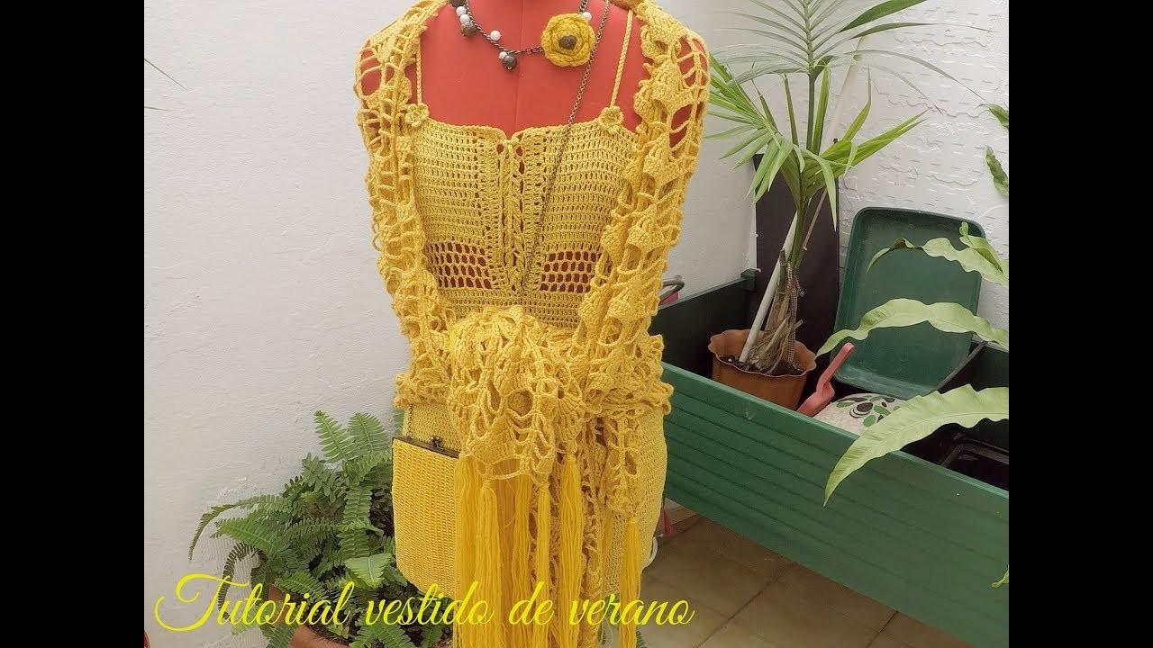 Tutorial vestido de verano a crochet | Tejiendo con Rosita |