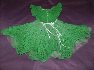 Vestido a crochet para niña de 4 añitos