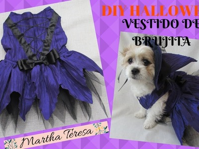 Vestido de Brujita para Perrita-DIY HALLOWEEN
