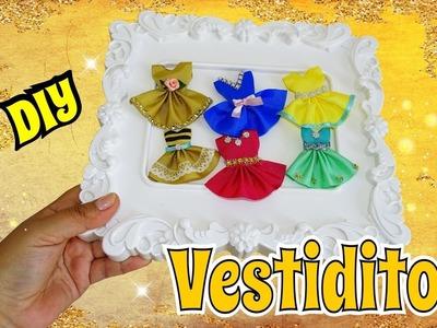 Vestidos en Miniatura para Ganchitos o Tarjetas DIY super facil