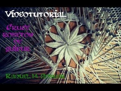 006 Cruce de guipures en un rosetón - Curso Completo Tutorial Raquel M. Adsuar Bolillotuber