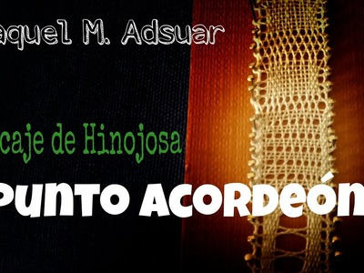 009 Punto Acordeón  Encaje de Bolillos Técnica de Hinojosa - Raquel M. Adsuar Bolillotuber