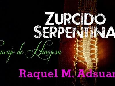 018 Punto Zurcido Serpentina. Encaje de Bolillos Técnica Hinojosa - Raquel M. Adsuar Bolillotuber