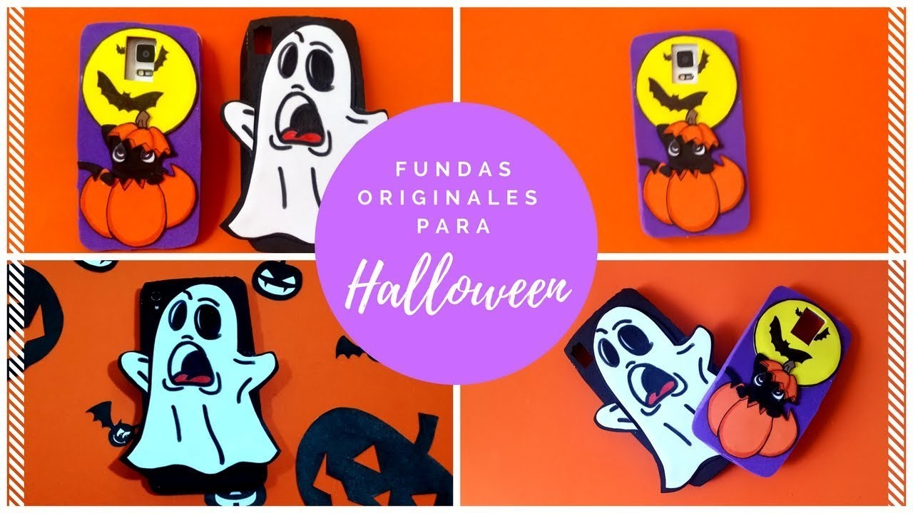 2 Fundas de halloween para el celular   Super originales   Wonder & Craft