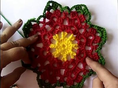 56.- Ideas Navidad, estrella de 8 puntas a crochet (Modelo 2)