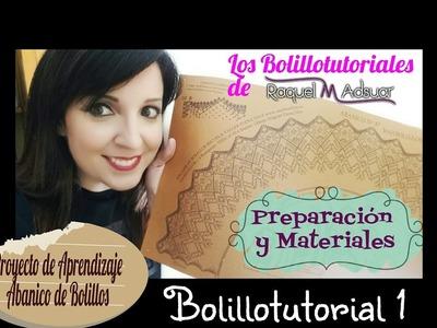 Abanico nº 37 de Maxbolillos. Tutorial 1: Preparación y materiales. Raquel M. Adsuar Bolillotuber
