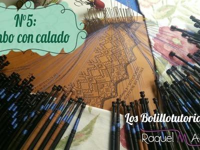 Abanico nº 37 de Maxbolillos. tutorial 5: Rombo Lienzo con Calado. Raquel M. Adsuar Bolillotuber