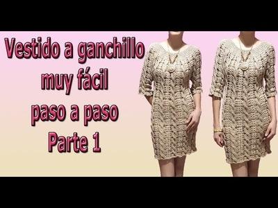 Blusa o vestido de trenzas a crochet -ganchillo - vestido a crochet parte #1