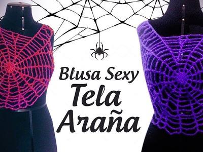 BLUSA SEXY DE HALLOWEEN TIPO TELARAÑA | Canela♥