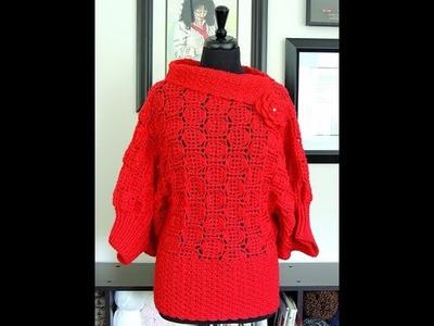 Bluson a Crochet # 2.  Parte 1 de 2