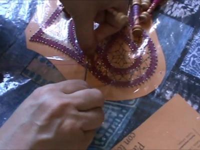 Bolillos: Corazon diseño de Aurora Ramos - Parte 8 Falsa trenza