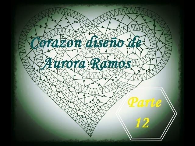 Bolillos: Corazon diseño de Aurora Ramos - Parte 12