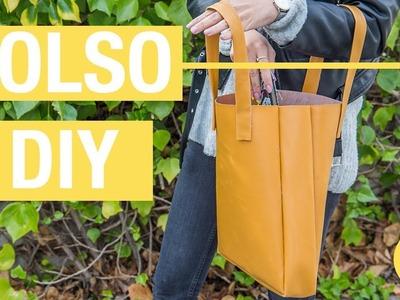 Bolso casero de polipiel · Handfie DIY