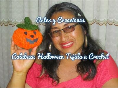 CALABAZA DE HALLOWEEN TEJIDO A CROCHET