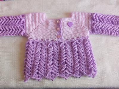 Chambrita a crochet para bebe