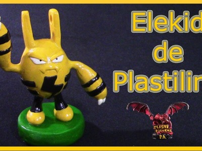 Como Hacer a Pokémon Elekid de Plastilina.How to Make Elekid with Clay.Pokémon