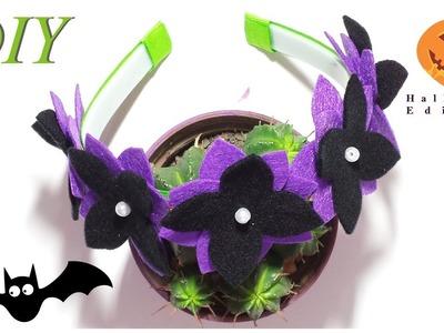 Como Hacer Lazos ???? DIY #171 Cintillo Floral Halloween Tutorial