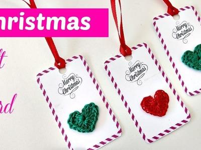 Cómo hacer tarjetas a crochet para navidad