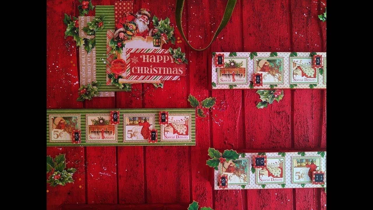Cómo hacer un Calendario Adviento - TUTORIAL PASO A PASO - Graphic 45 - DIY Advent Calendar