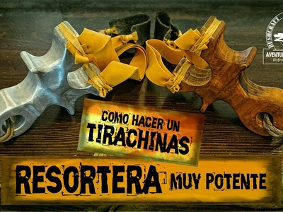 Como Hacer un TIRACHINAS o RESORTERA (PARTE 1) - Tirachinas Casero Profesional. SUPERVIVENCIA