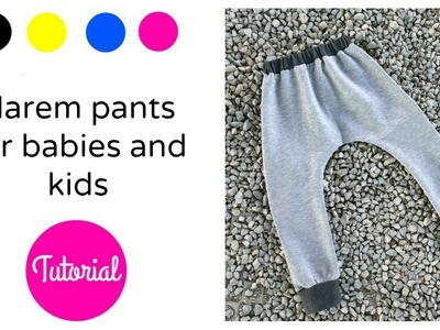 DIY Cómo hacer pantalones harem para niños