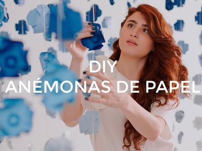 DIY Guirnalda de Anémonas de papel