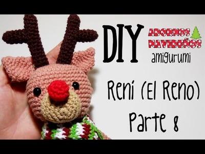 DIY Rení (El reno) Parte 8 amigurumi crochet.ganchillo (tutorial)