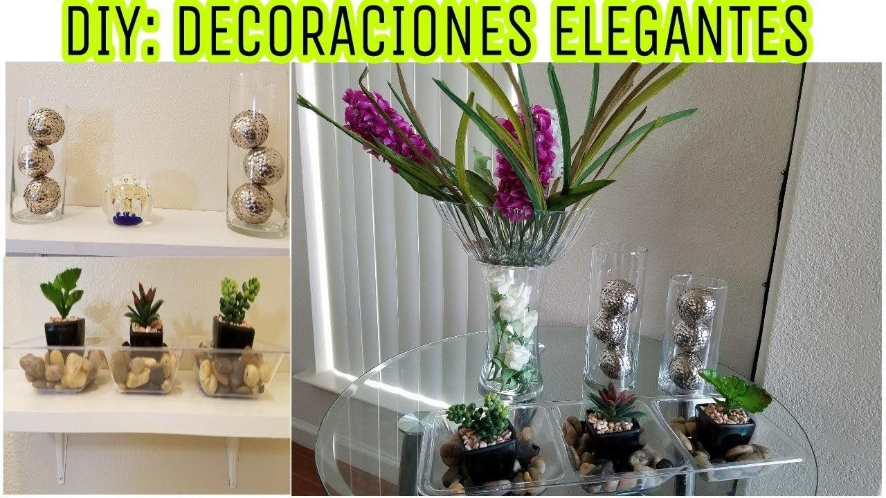 DIY: TRES DECORACIONES ELEGANTES CON POCO DINERO???? DECORA TU CASA CON  POCO DINERO