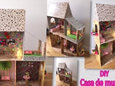 DIY Tutorial Casita para Muñecas Hecha con Cartón