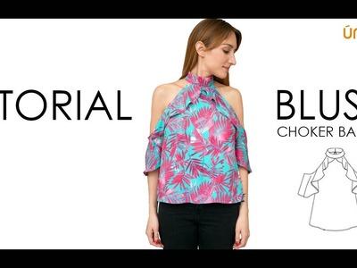 DIY tutorial  costura : Blusa choquer bardot