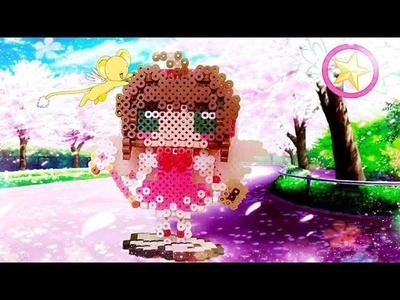 DIY. Tutorial ♥ Sakura Card Captor ♥ Pearl - Hama Beads (3D)  (≧ω≦)