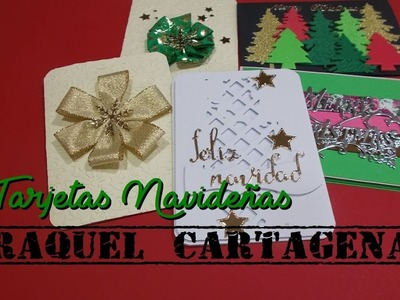 DIY TUTORIAL SCRAPBOOKING TARJETERIA Tarjetas Navidad fáciles