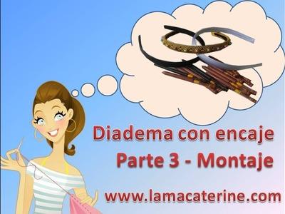 Encaje de bolillos: Como hacer adorno para una diadema - Parte 3 por lamacaterine