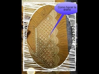 Encaje de bolillos: Inicio pañuelo - Parte 2 araña o milano por lamacaterine