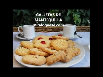 Galletas de Mantequilla (solo con yemas)