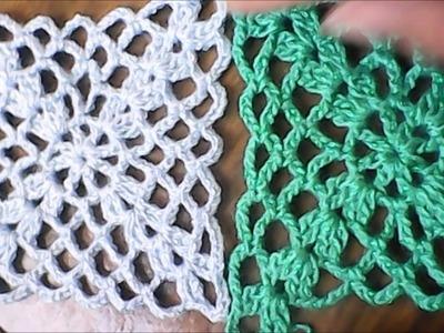 Ganchillo - Cuadro granny a crochet