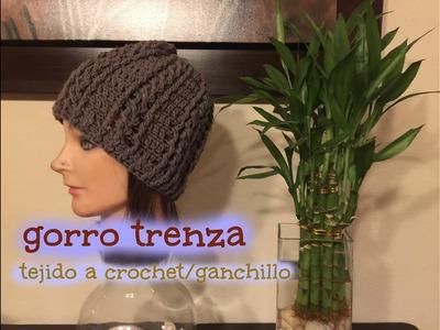 Gorro Trenza Tejido a Crochet.Ganchillo