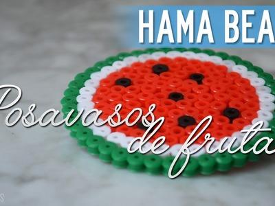 Hama Beads | Posavasos de Frutas (Sandía)