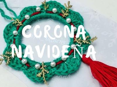 ¡Cómo hacer Corona a Crochet Navideña! *Christmas wreaths*