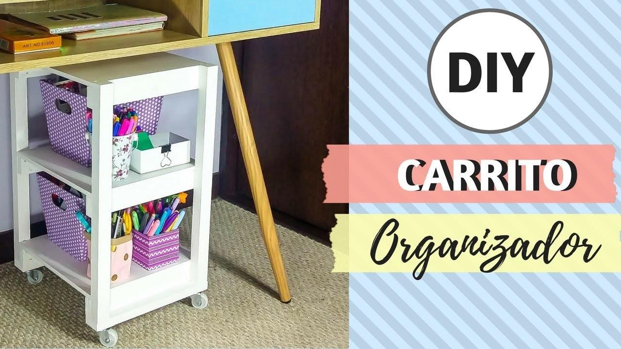 IDEAS PARA ORGANIZAR | DIY: Carrito para organizar tu craft room | Con un Trozo de Papel