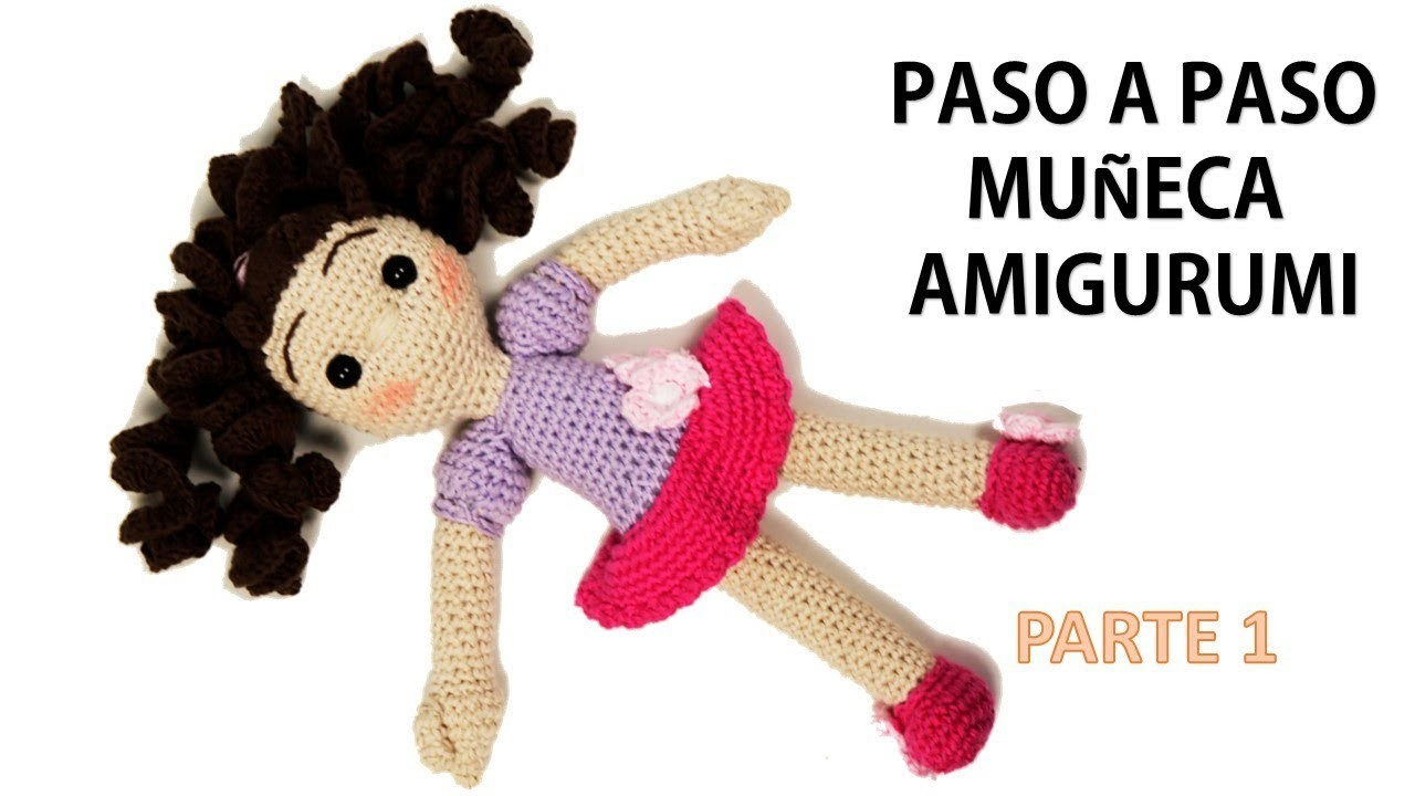 Muñeca a crochet para los mas pequeños, amigurumi parte 1