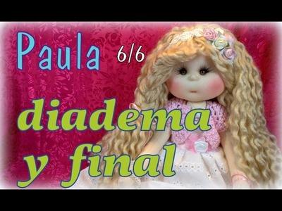 Muñeca lolita Paula 6.6, diadema y fin de curso , manualilolis video-239