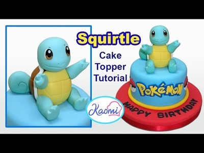 Pokemon: Squirtle Cake Topper. Cómo hacer a Squirtle para tortas