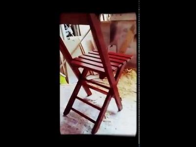 Silla de madera (modelo plegable)