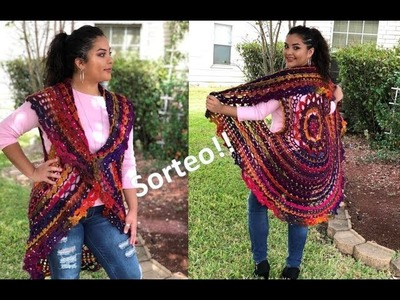 Sorteo Les Tengo Que Contar Algo - Chaleco o Cardigan Tejido a Crochet Talla Unica