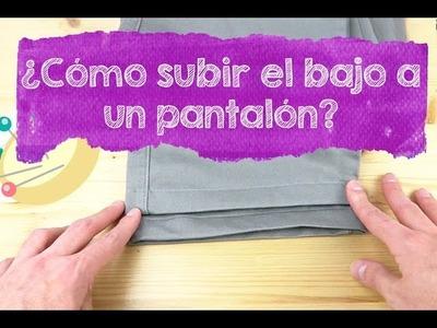 SUBIR BAJO DE PANTALÓN CON COSTURA VISTA - Aprender a coser